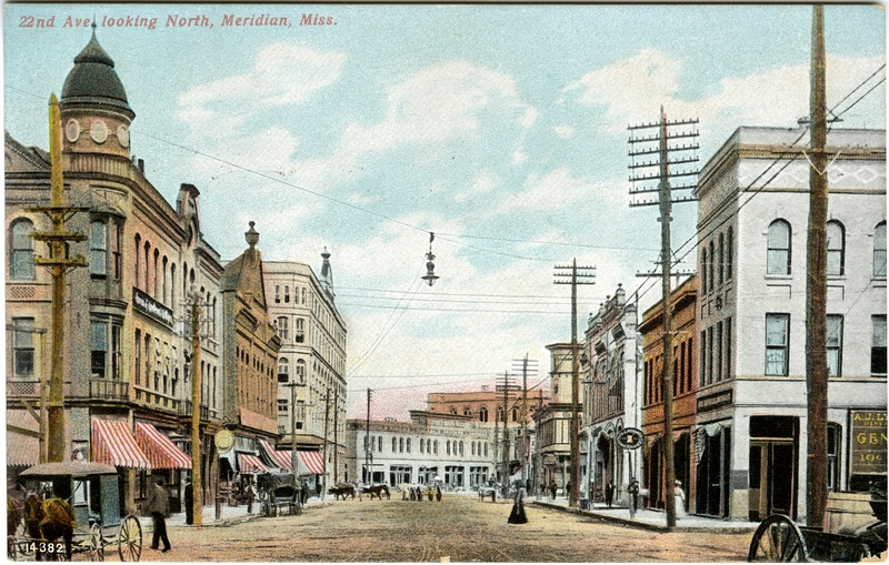 Meridian_downtown_postcard