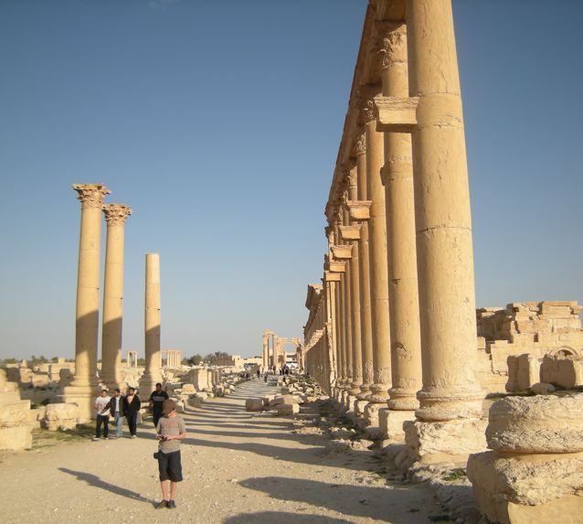 Among the ruins of Palmyra. Photo © Matthew Stevenson