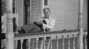 Front porch, Sunday afternoon, Vincennes, Indiana, 1941. John Vachon. Library of Congress.