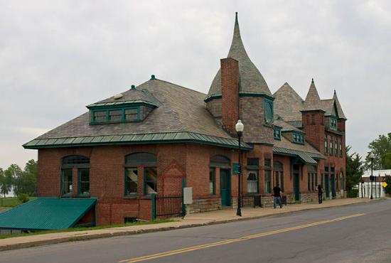 Plattsburgh, NY, train station; photo © Ymblanter
